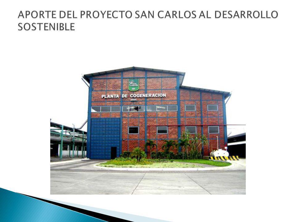 APORTE DEL PROYECTO SAN CARLOS AL DESARROLLO SOSTENIBLE