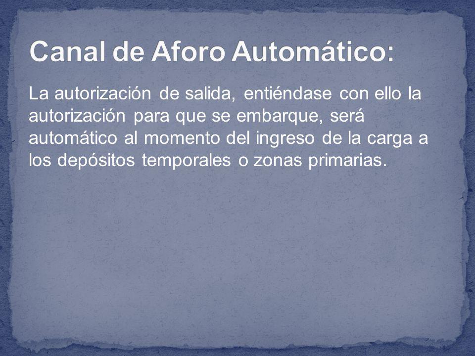 Canal de Aforo Automático: