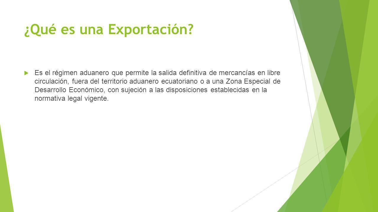 ¿Qué es una Exportación