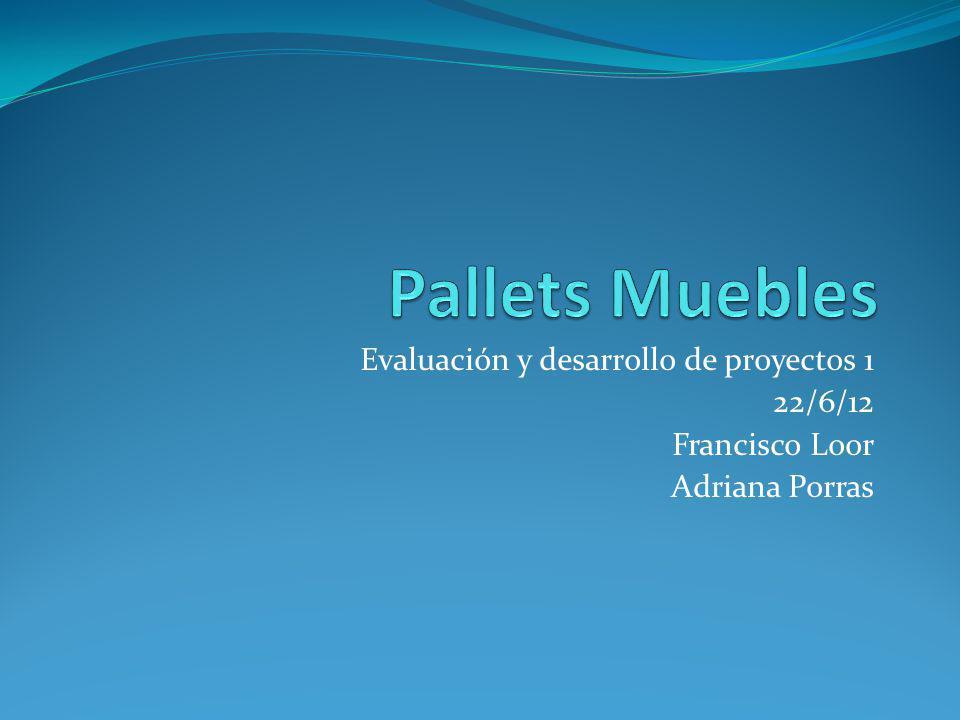 Pallets Muebles Evaluación y desarrollo de proyectos 1 22/6/12