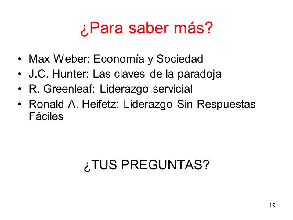 ¿Para saber más ¿TUS PREGUNTAS Max Weber: Economía y Sociedad