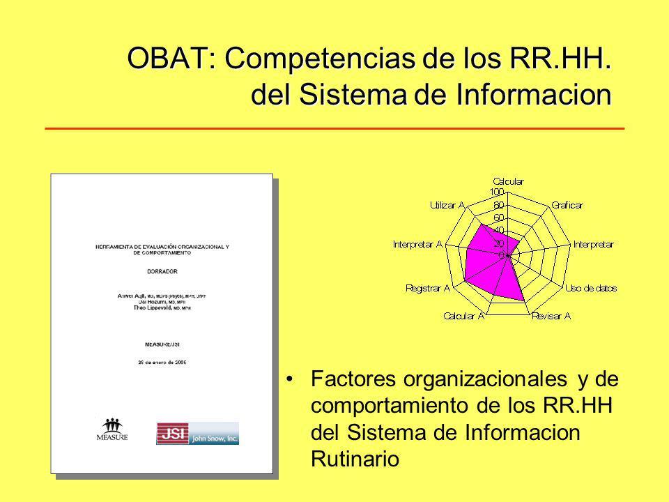 OBAT: Competencias de los RR.HH. del Sistema de Informacion