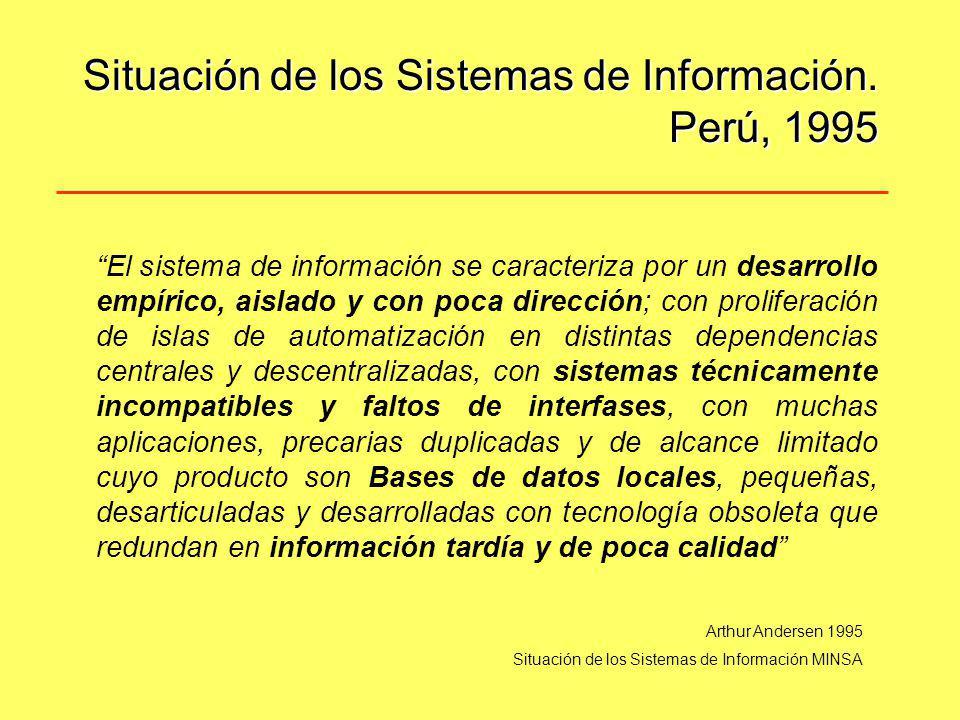 Situación de los Sistemas de Información. Perú, 1995