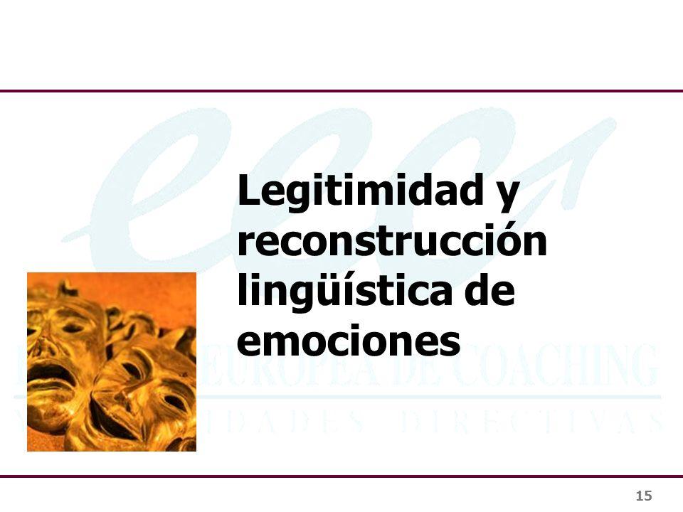 Legitimidad y reconstrucción lingüística de emociones