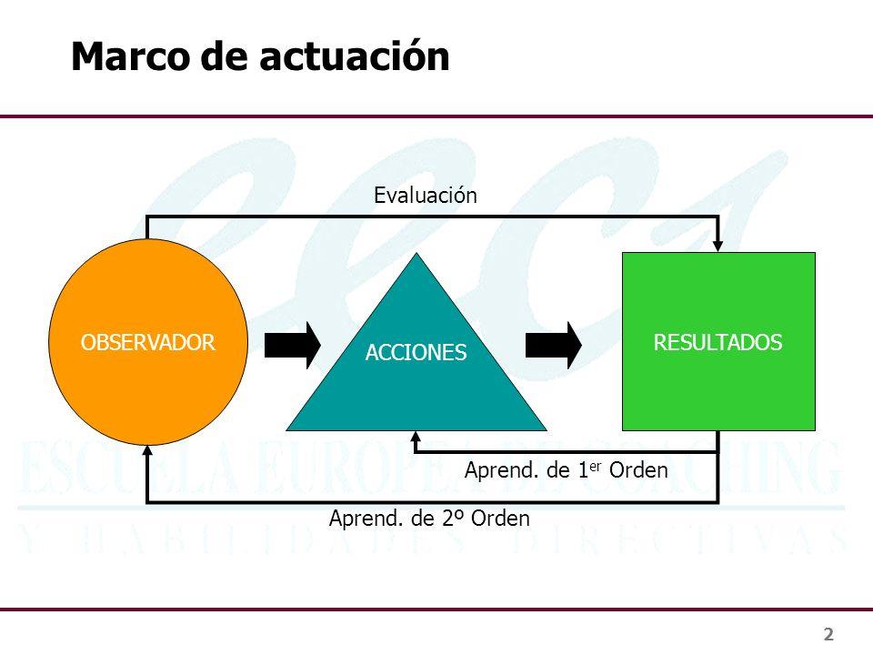 Marco de actuación Evaluación OBSERVADOR ACCIONES RESULTADOS