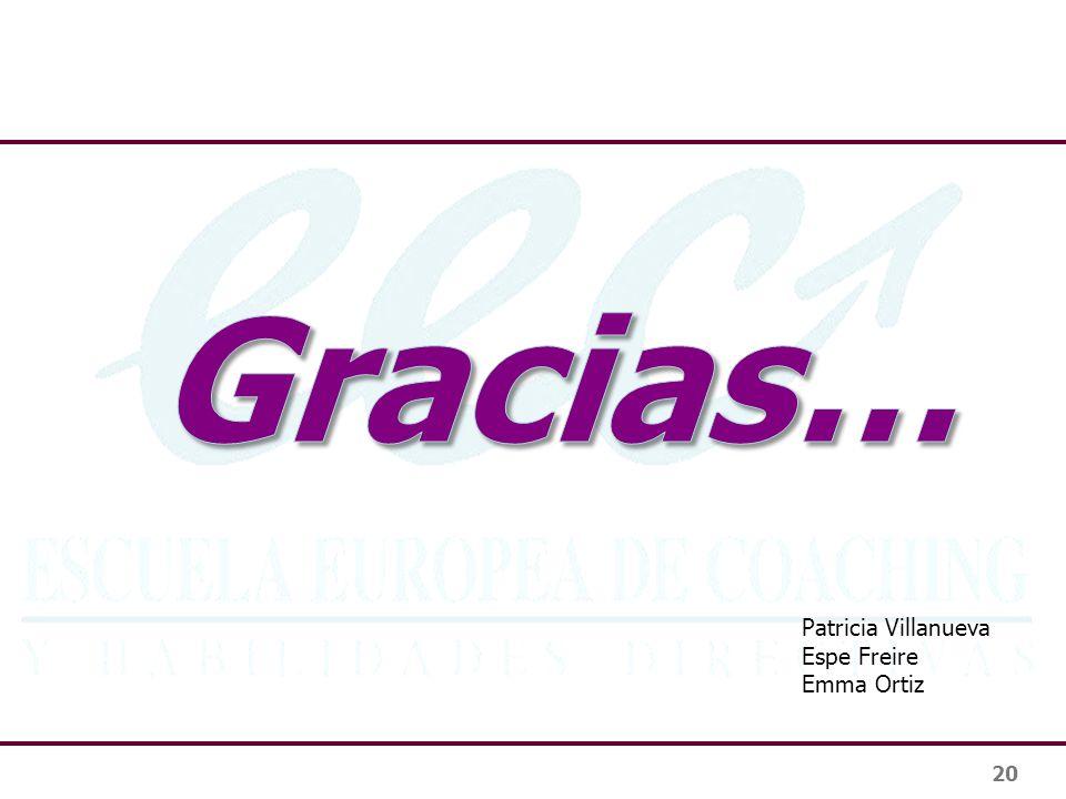 Gracias… Patricia Villanueva Espe Freire Emma Ortiz