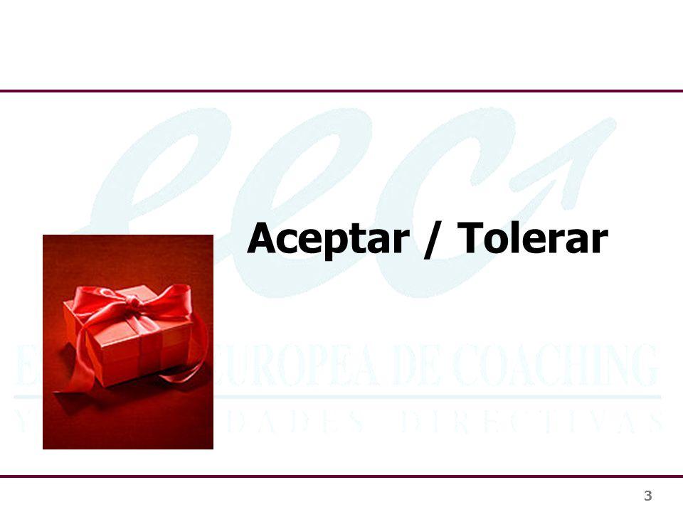 Aceptar / Tolerar 3