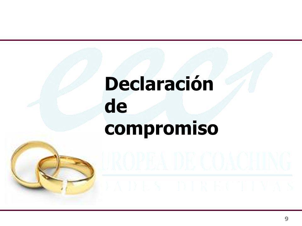 Declaración de compromiso