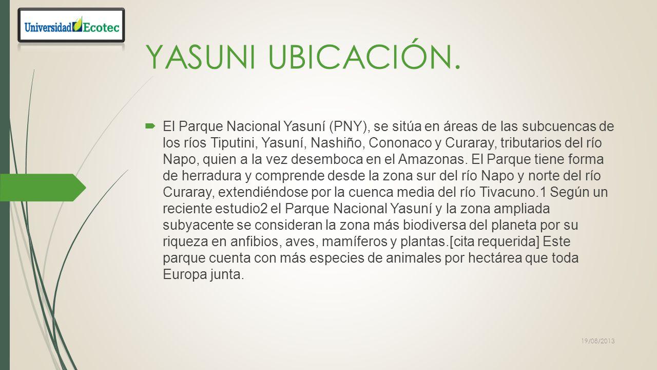YASUNI UBICACIÓN.