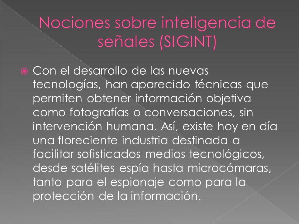 Nociones sobre inteligencia de señales (SIGINT)