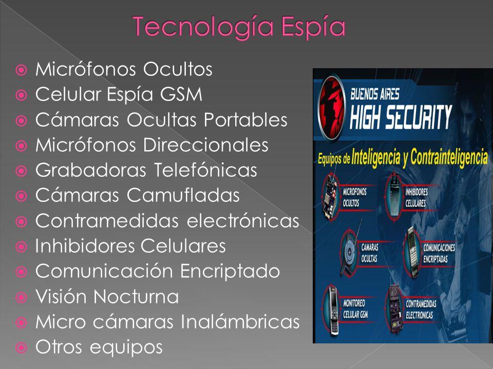 Tecnología Espía Micrófonos Ocultos Celular Espía GSM