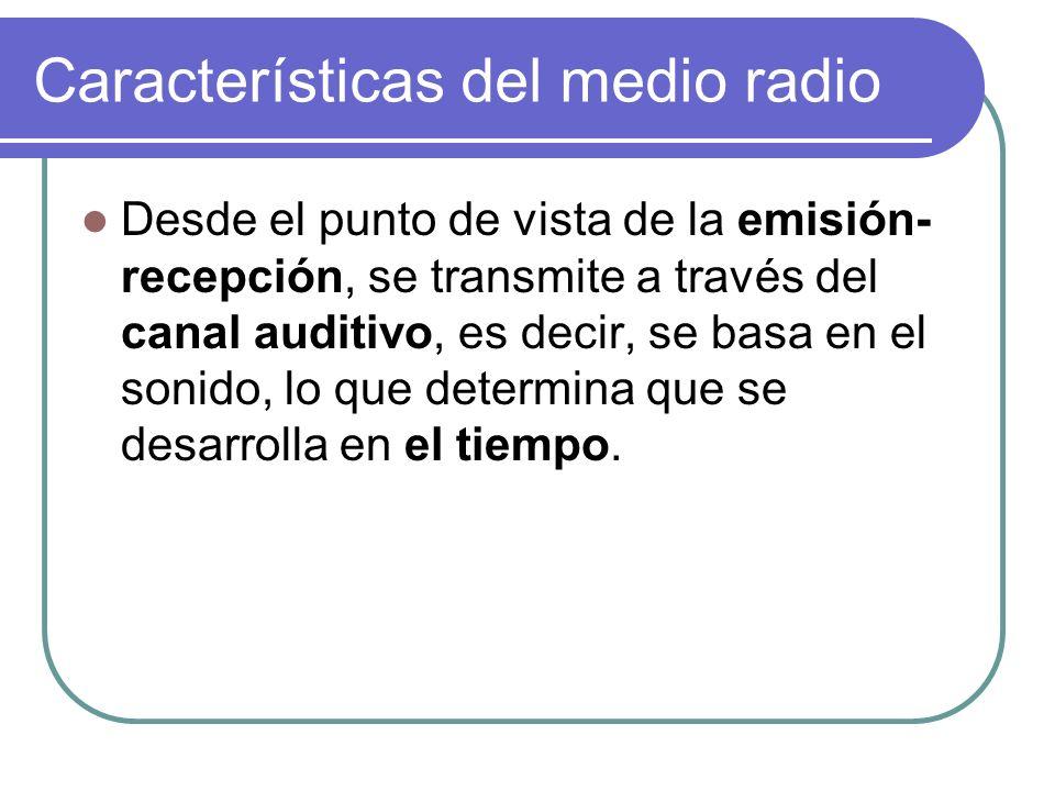 Características del medio radio
