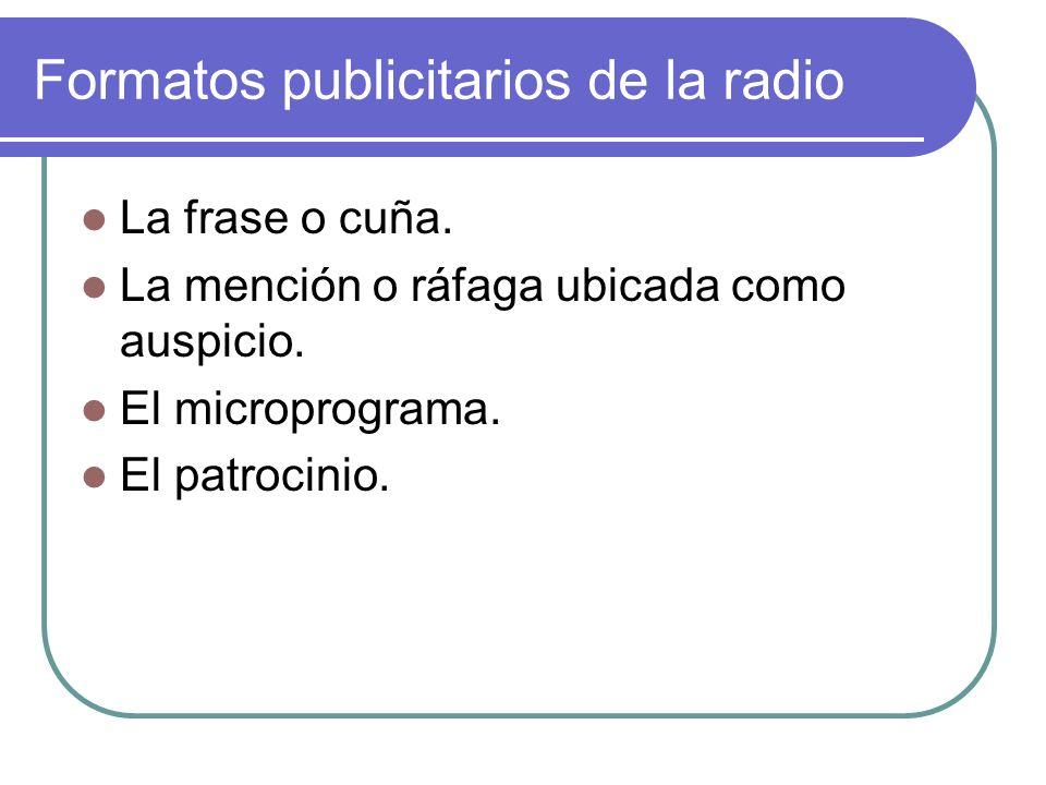 Formatos publicitarios de la radio