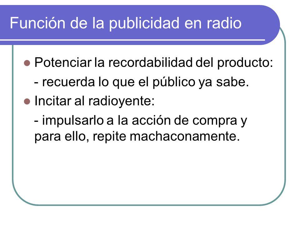 Función de la publicidad en radio