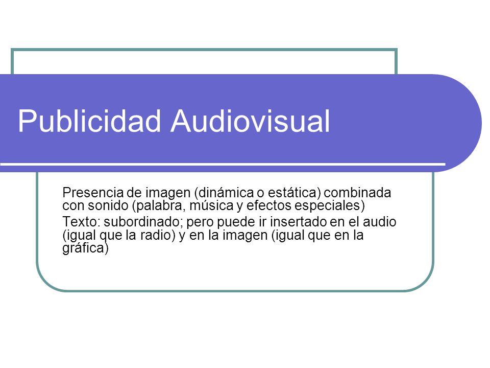 Publicidad Audiovisual