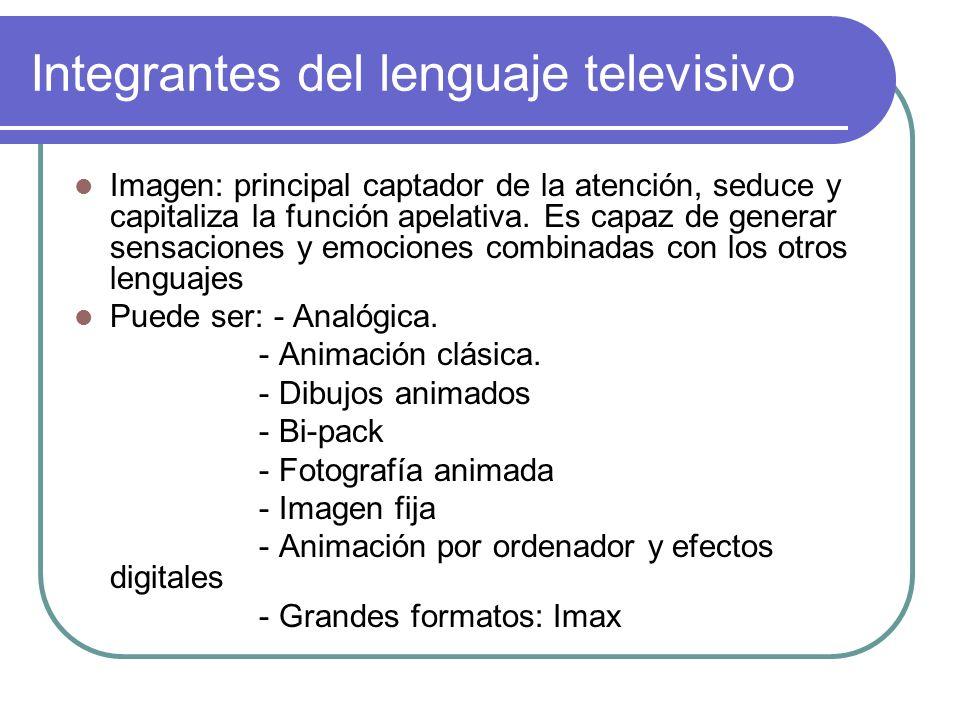 Integrantes del lenguaje televisivo