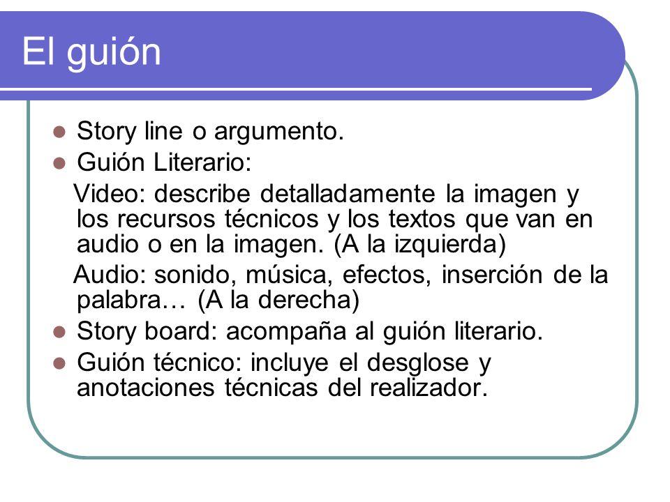 El guión Story line o argumento. Guión Literario: