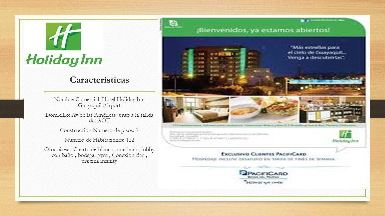 Características Nombre Comercial: Hotel Holiday Inn Guayaquil Airport
