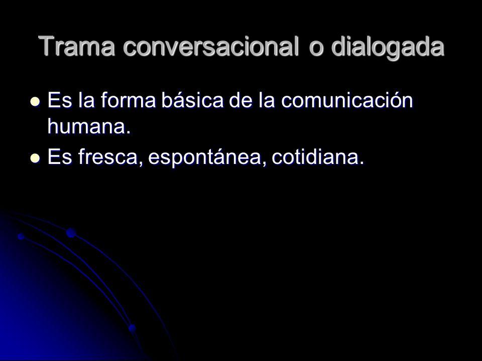 Trama conversacional o dialogada