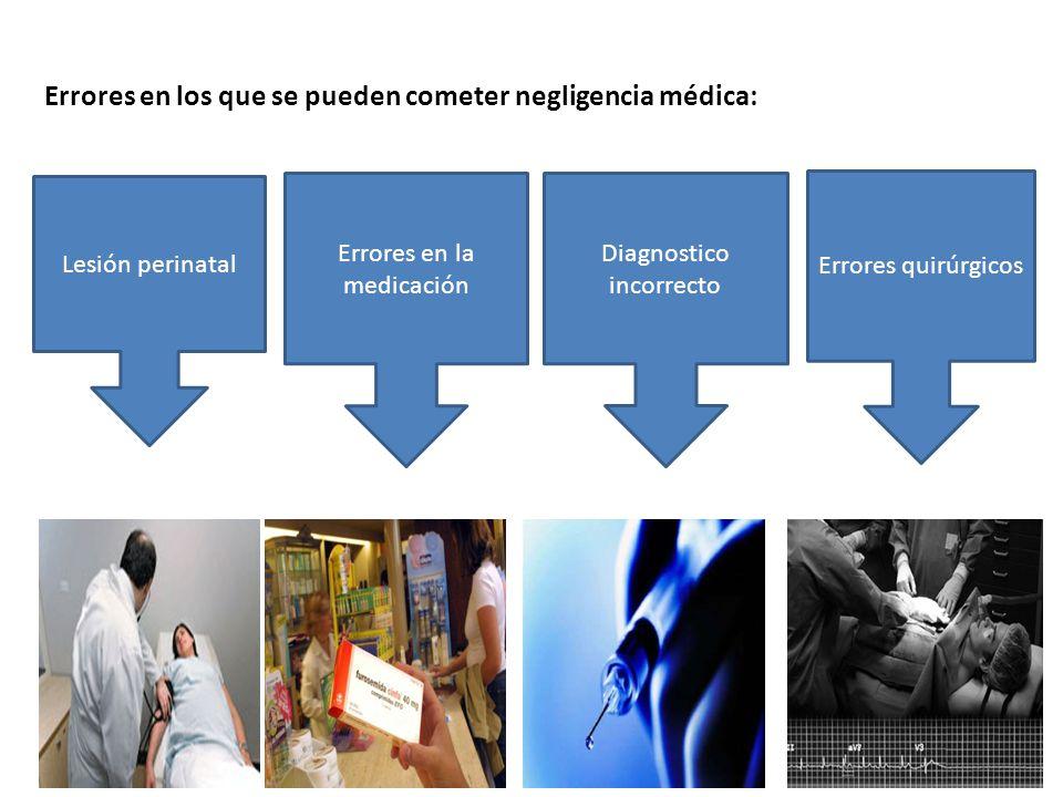 Errores en los que se pueden cometer negligencia médica: