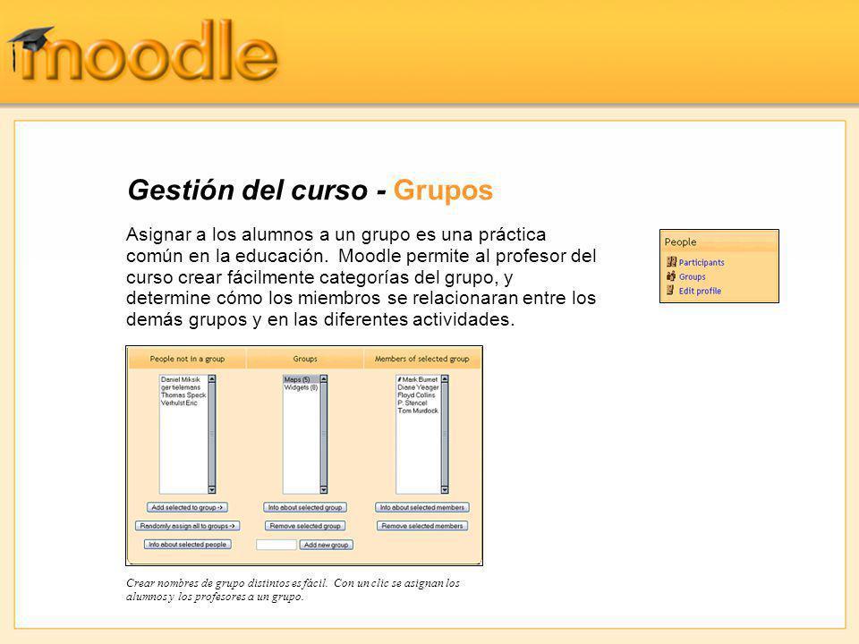 Gestión del curso - Grupos