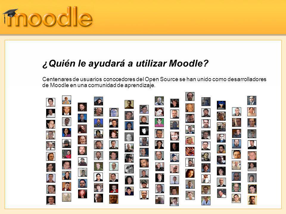 ¿Quién le ayudará a utilizar Moodle