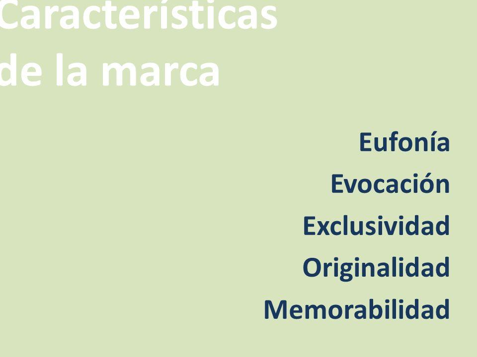 Características de la marca
