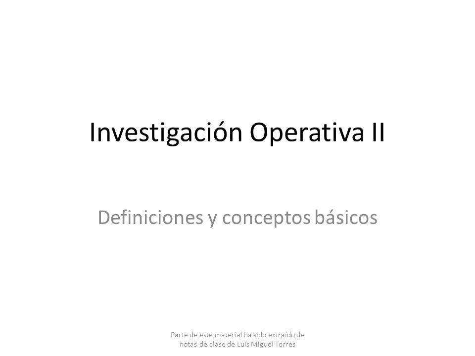 Investigación Operativa II
