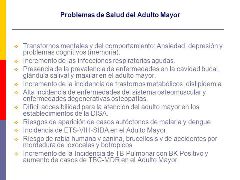 Problemas de Salud del Adulto Mayor