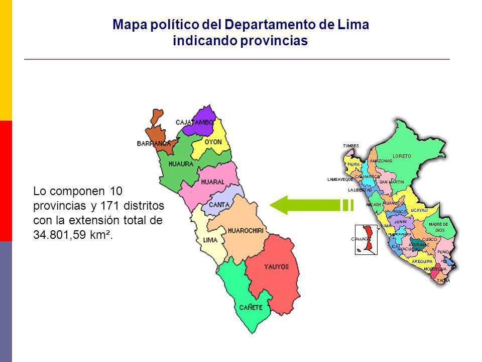 Mapa político del Departamento de Lima