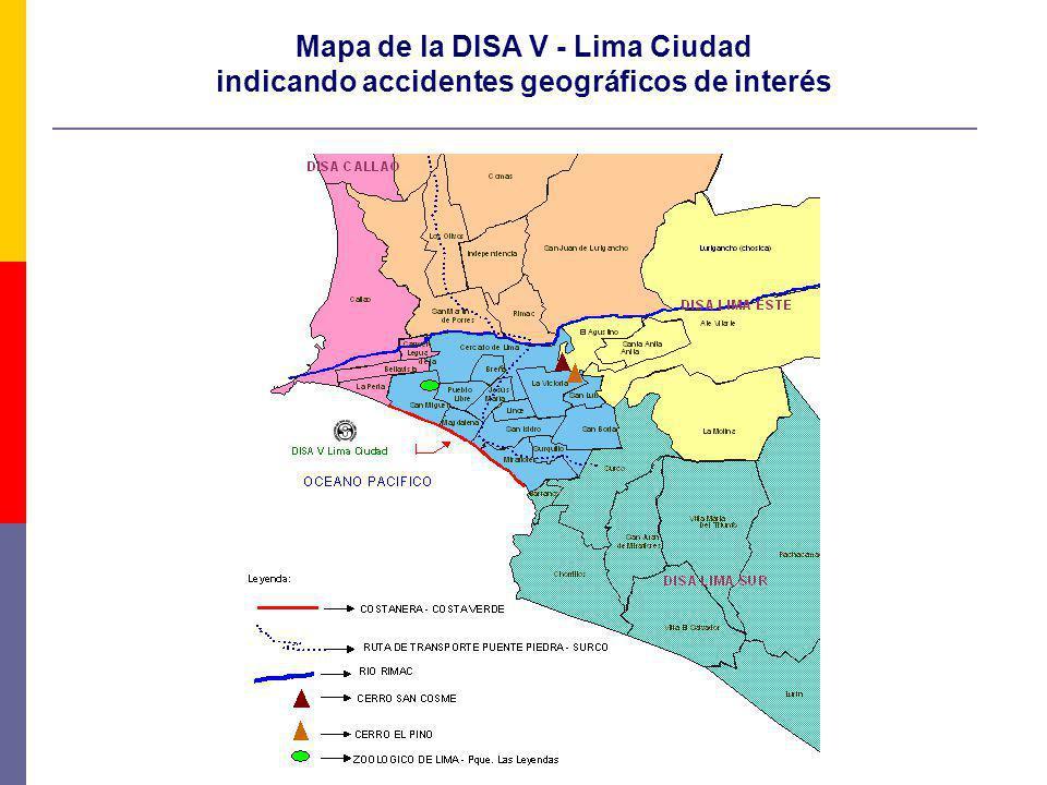 Mapa de la DISA V - Lima Ciudad