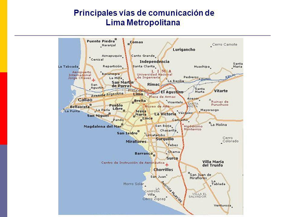 Principales vías de comunicación de