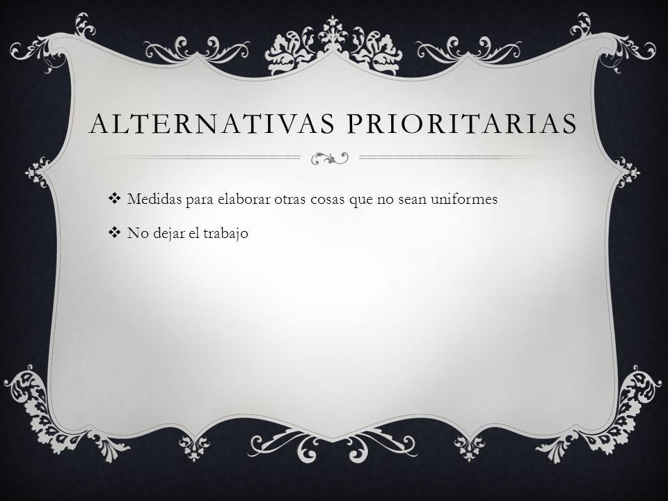 Alternativas PRIORITARIAS