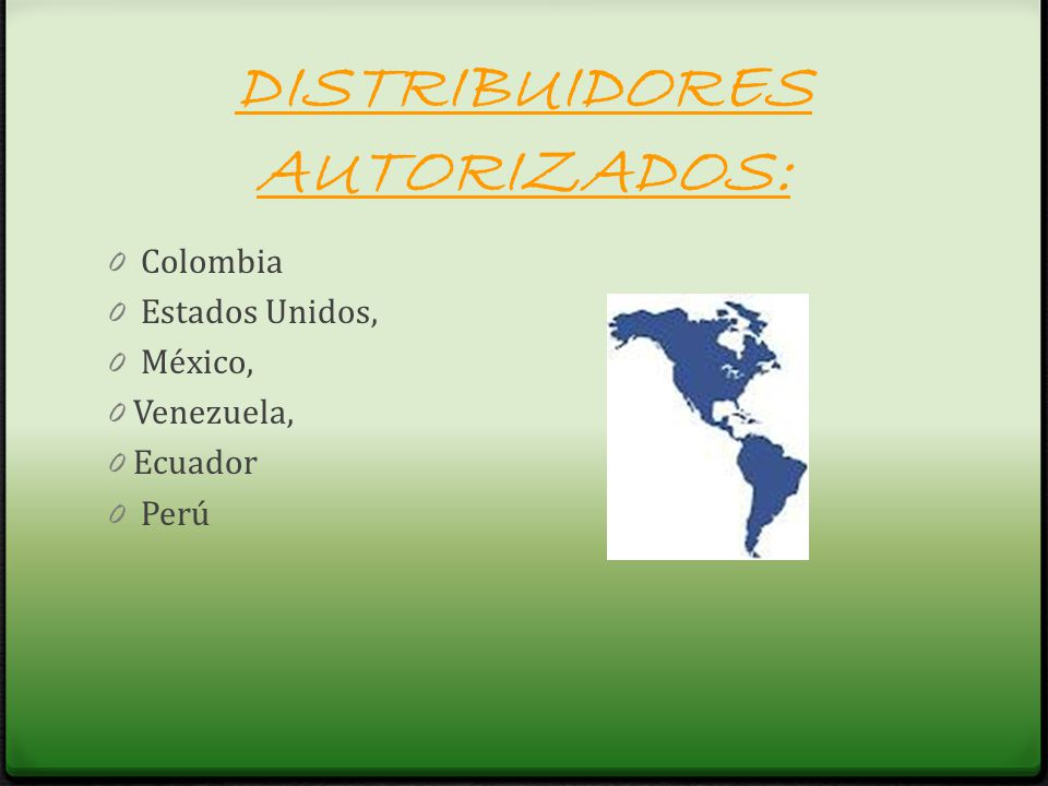 DISTRIBUIDORES AUTORIZADOS: