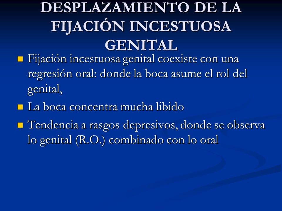 DESPLAZAMIENTO DE LA FIJACIÓN INCESTUOSA GENITAL