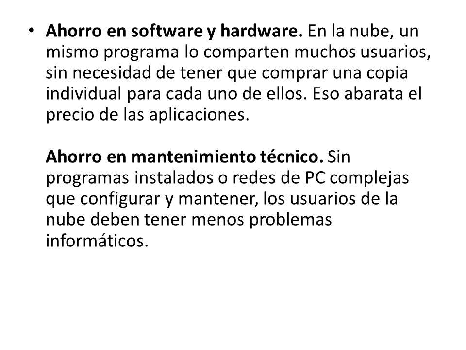 Ahorro en software y hardware