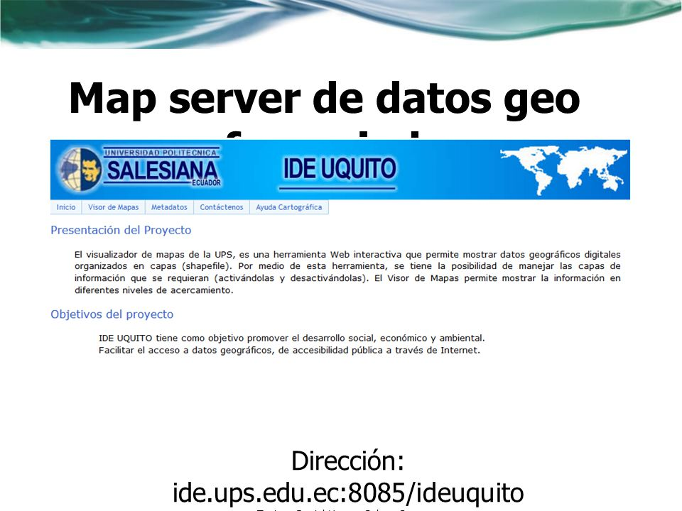 Map server de datos geo referenciados