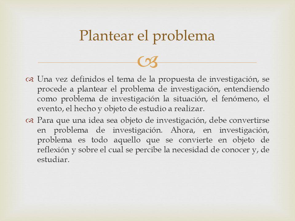Plantear el problema