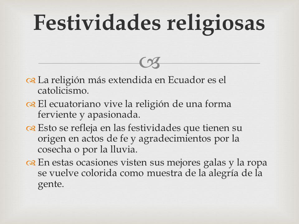 Festividades religiosas