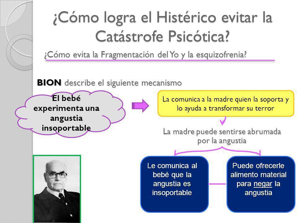 ¿Cómo logra el Histérico evitar la Catástrofe Psicótica