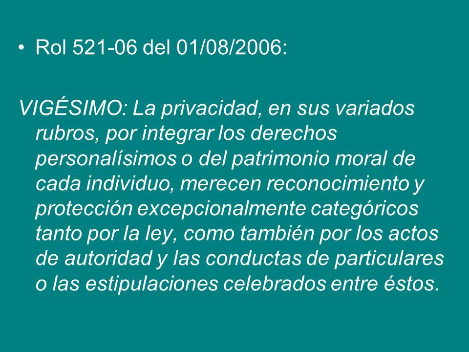 Rol 521-06 del 01/08/2006: