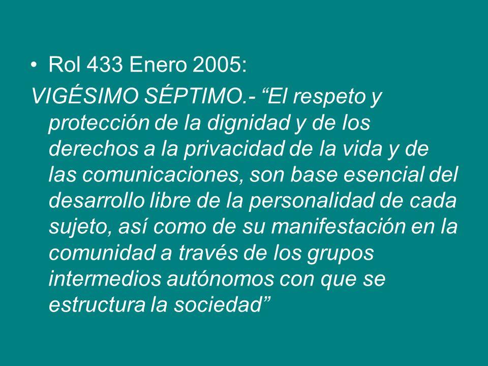 Rol 433 Enero 2005: