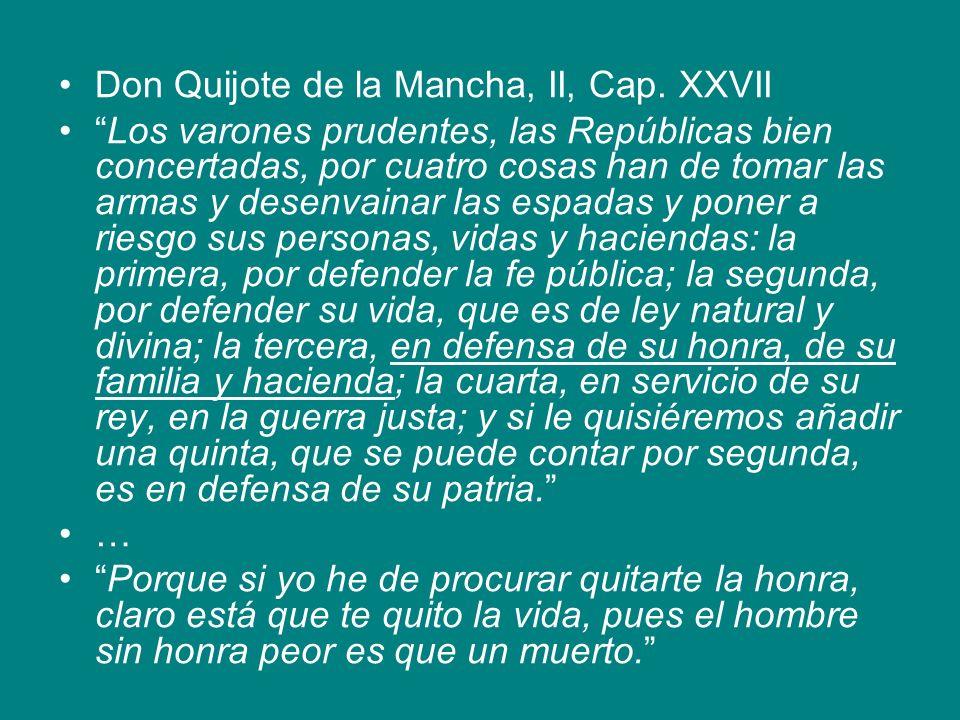 Don Quijote de la Mancha, II, Cap. XXVII