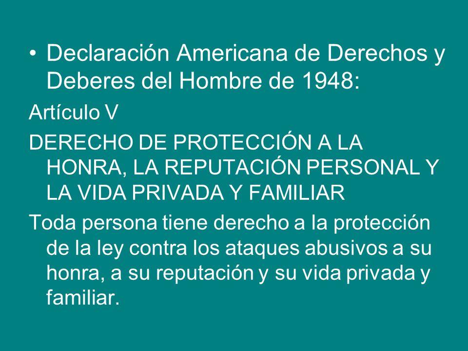 Declaración Americana de Derechos y Deberes del Hombre de 1948: