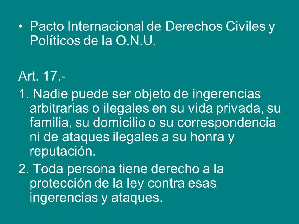 Pacto Internacional de Derechos Civiles y Políticos de la O.N.U.