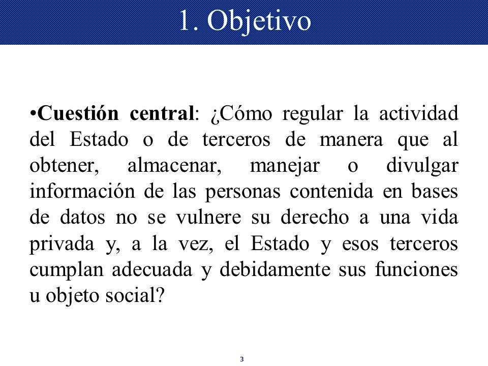 1. Objetivo