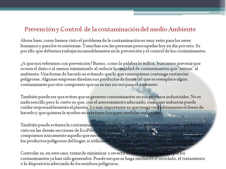 Prevención y Control de la contaminación del medio Ambiente