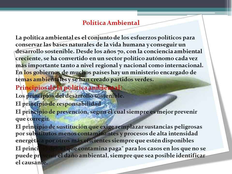Principios de la política ambiental: