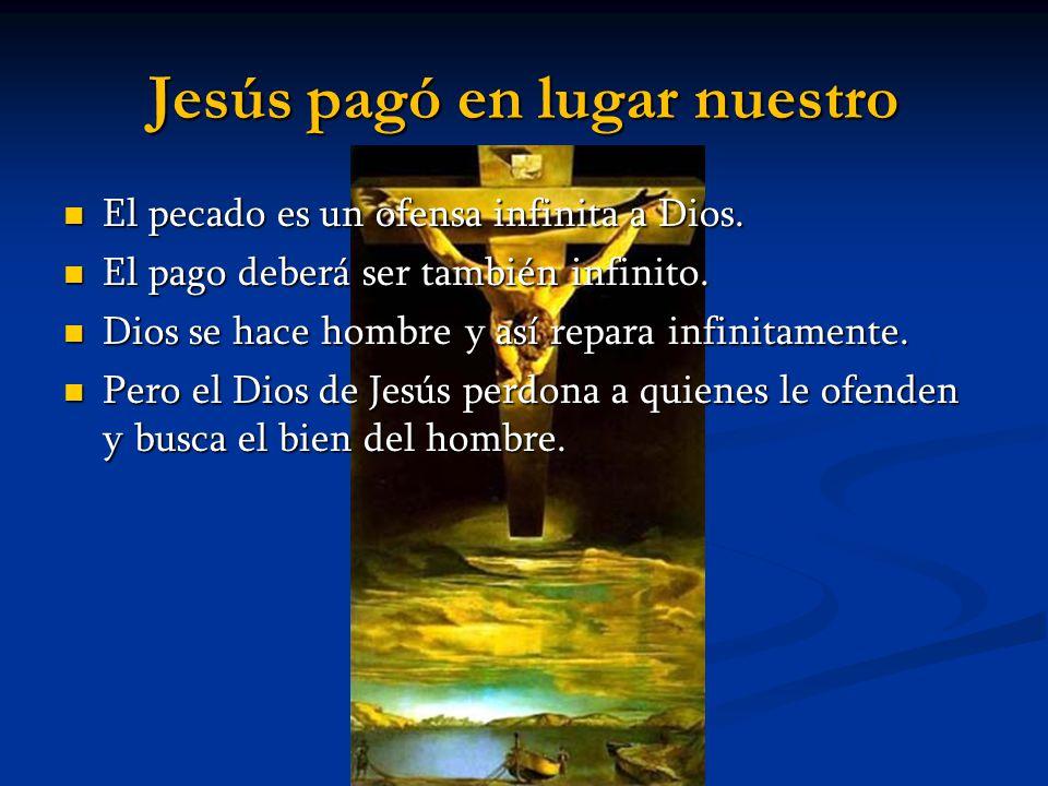 Jesús pagó en lugar nuestro