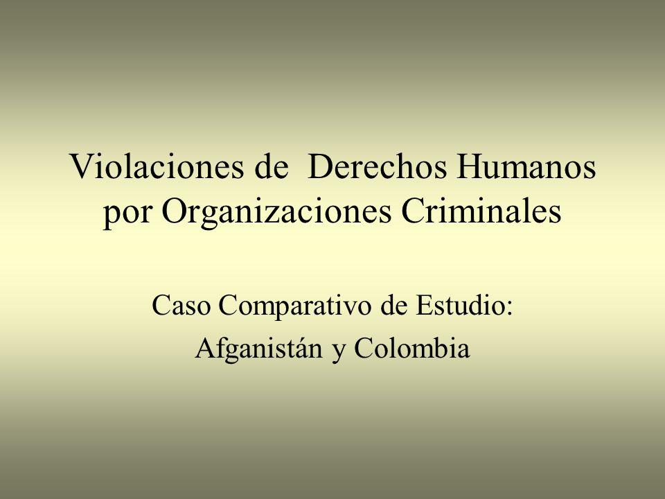 Violaciones de Derechos Humanos por Organizaciones Criminales